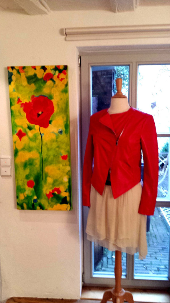 Kunst Acryl Bild Gemälde online kaufen Mohn