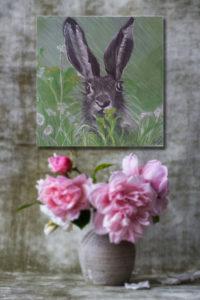 Tier Gemälde Hase