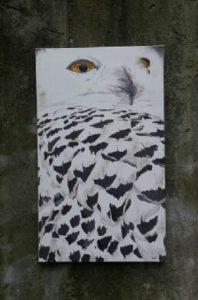 Gemälde Tier Schneeeule