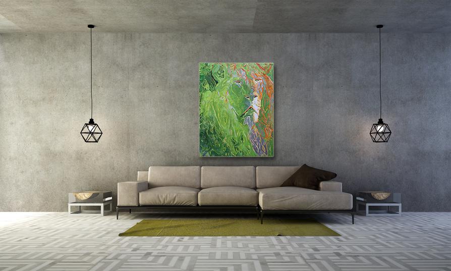 Tier Bilder Gemälde Löwe abstrakt Lion