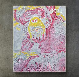 SChimpanse abstakt Bild Kunst Gemälde