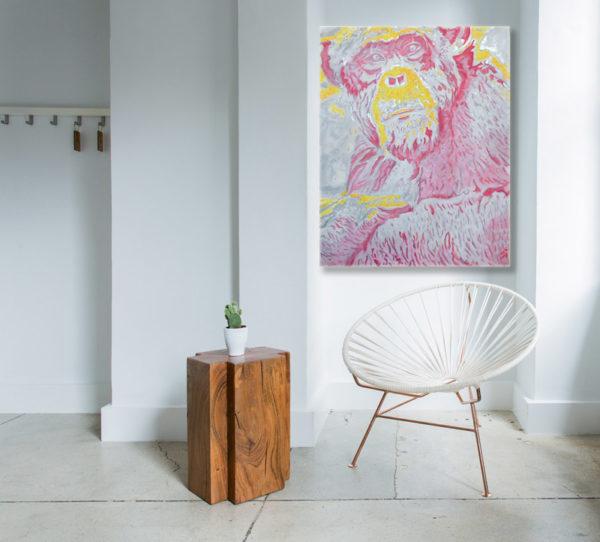 Kunstdruck Schimpanse abstrakte Kunst