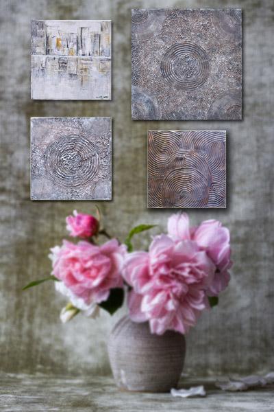 Relief antik Shabby Bild