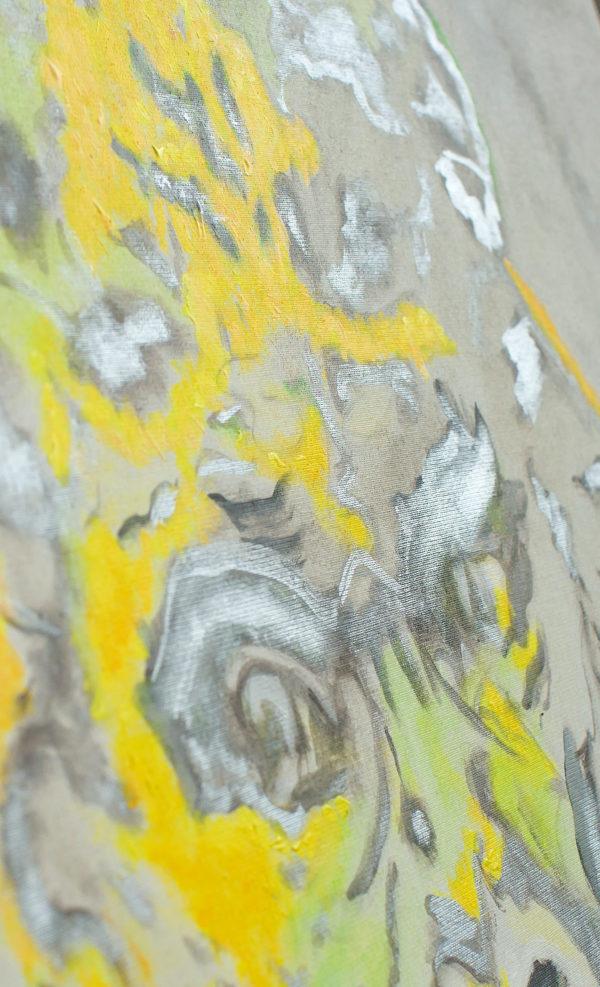 Silberrücken abstrakt Original und Kunstdruck