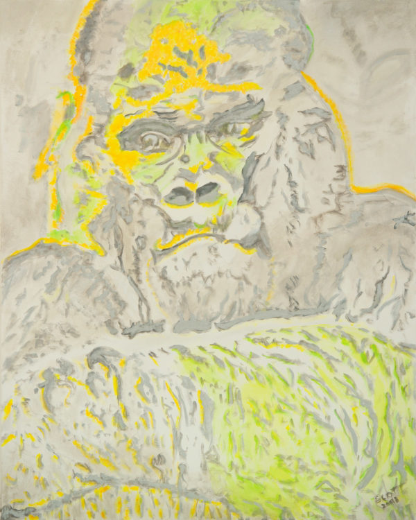 Gorilla abstrakte Kunst Tiere
