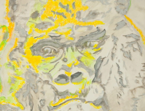 Silberrücken abstrakt Gorilla Acrylgemälde